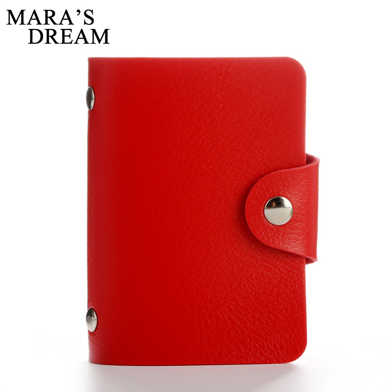 Mara's Dream 24 Bits Women Men Credit Card Holder PU Leather Hasp Unisex ID Holders Package Organizer Manager 2018 etya bank credit card holder card cover