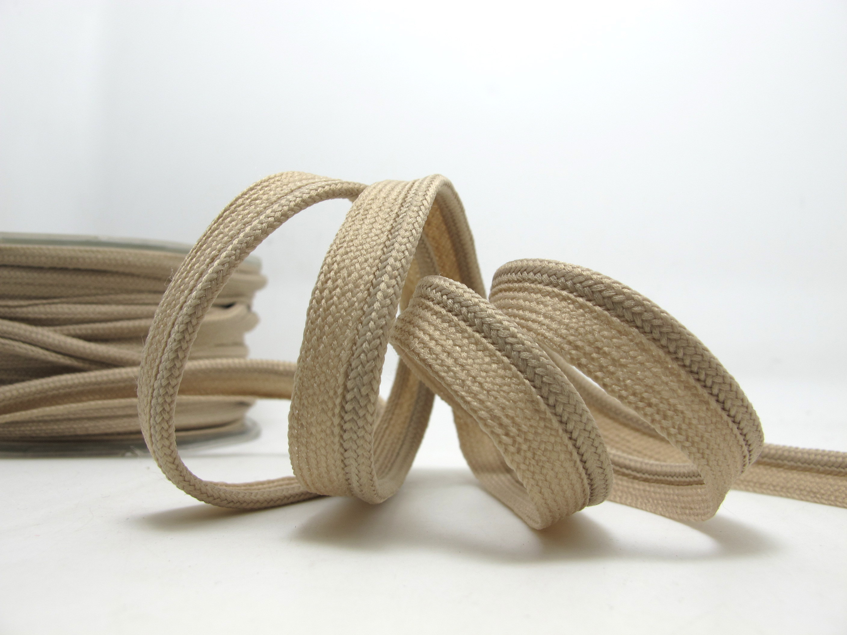 "2 yards white polyester lip cord trim 1//2/"" inch wide"