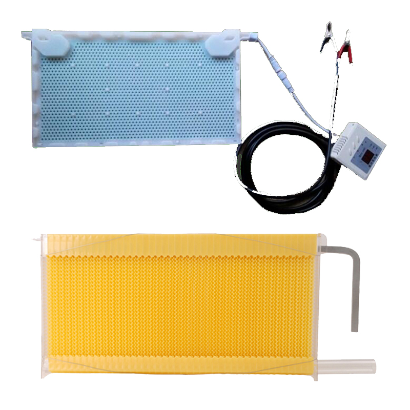 Free ship automatic honey flow hive honeycomb 4 frames beehives add intelligent physical acaricidal instrument kits hive flow 8 frames reversible electric honey extractor