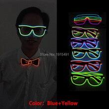 Double-Linear Graduation Party Neon Led Bulb Christmas Sunglasses Light Up EL Wi
