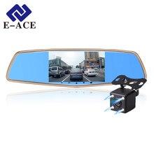 E-ACE Coche Dvr de Doble Lente de Espejo Retrovisor de 5.0 Pulgadas IPS de la Cámara Grabadora de Vídeo Dash Cam Auto Registrator 1920*1080 P de La Visión Nocturna