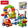 52 шт. Мой Первый Творческий Cars разнообразие Автомобиль История Большой Размер Строительные Блоки Кирпичи Детские Игрушки Совместимо С Lego Duplo