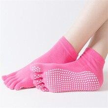 Non-slip Massage Cotton Five-toe Socks For Women Dance Multicolor Toes Ladies Skid Resistance Five Fingers