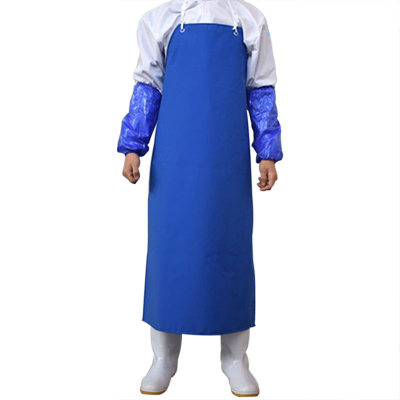 High Quality Thickening PVC Apron for Men Anti-Oil Resistant Waterproof Workwear Butcher Cooking Apron Chef Uniforms