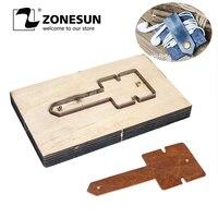 ZONESUN Customized Leather Shape Laser Punch Die,Steel Blade Pvc/Eva Sheet Cutter Mold,Diy Watch Belt Wallet Leather Cutting Die