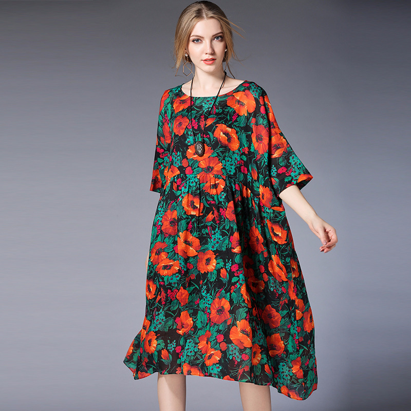 2018 Spring Summer Maternity Dress With Sling 2Pieces Set Chiffon Flowers Loose Europe And America Women Pregnancy Dress Clothes 2017 new spring women maternity t shirt