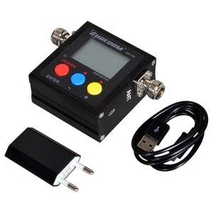 Image 5 - SureCom Medidor de corriente Digital SW 102 SWR, contador de frecuencia y 2 adaptadores RF, cubierta de 125MHz ~ 520MHz para escáner transceptor Ham