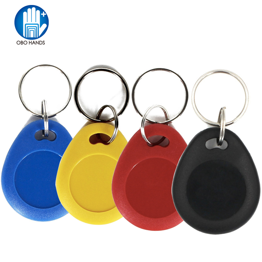 (pack Of 10/20/50/100) 13.56MHz RFID Keyfobs ISO14443A MF RFID Classic 1k Keychain NFC Token Tag Access Control Keycard 4 Colors