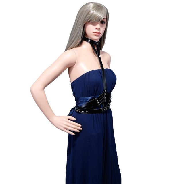 Goth pastel cinturones cummerbund correas gruesas para mujeres arnés de marca nueva HARAJUKU estilo arnés