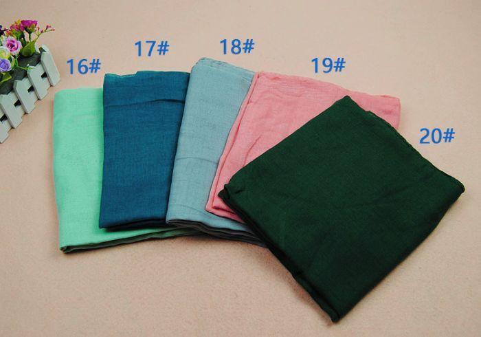 Frauen printe einfache Schals Viskose 100% langes festes moslemisches - Bekleidungszubehör - Foto 6