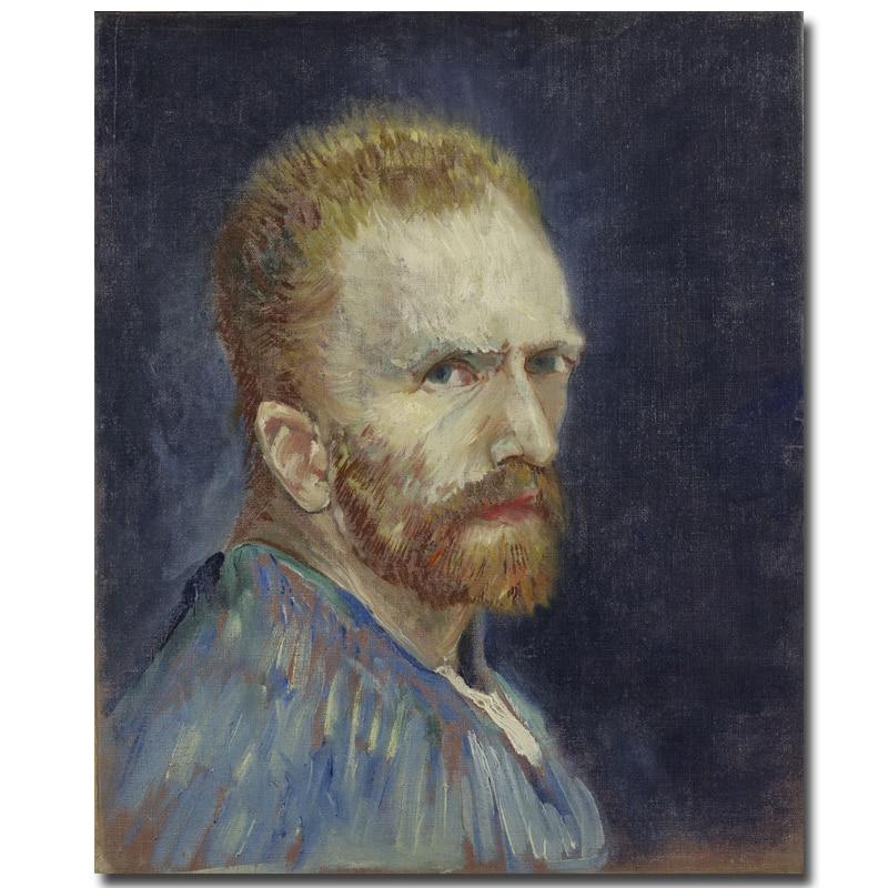 Abstrakt Gedruckt Malerei Vincent Van Gogh malerei von Self Portrait Ölgemälde Portrait Bild Hauptwanddekor