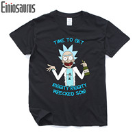 2017 Cool Rick And Morty Men T Shirt Summer Science Printed Anime T Shirt Casual Cartoon