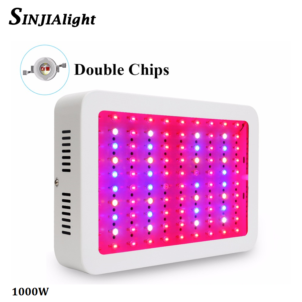 1000W Full Spectrum LED Grow Light Double Chip Red+Blue+White+UV+IR growth lamp for greenhouse grow tent indoor plant light 5pcs lot 108w waterproof uv ir led grow light bar for greenhouse indoor garden commercial plant veg flower growth grow tent