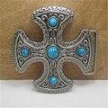 Крест Синий камень пряжки мужские дизайнер пряжки металлические для Одежды, джинсы, женщин платья, юбки, девушки одежду, одежды малыша
