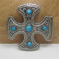 Cross Blue stone buckles mens designer belt buckles metal for Clothing, jeans, women dress,skirt, girls clothes, Kid clothes