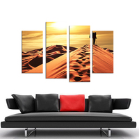 4PCS Sand Dunes On The Traveler Wall Painting Print On Canvas For Home Decor Ideas Paints