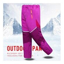 MAZEROUT Kids Winter Trekking Fishing hiking softshell pants Children outdoor fleece Skiing trousers waterproof warm camping цена 2017