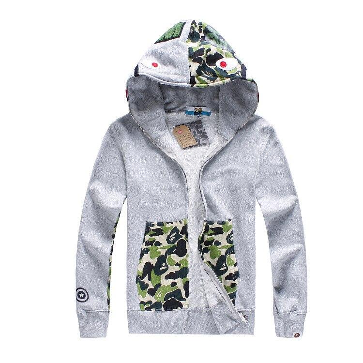 bape hoodies couple fashion long sleeve baby milo shark hoodies sweatshirts  hip hop street camo bape hoodie winter jacket 1b9a9ccfb665