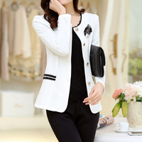 Spring And Autumn New Small Suit Jacket Plus Fertilizer To Increase The Size Of Self Cultivation