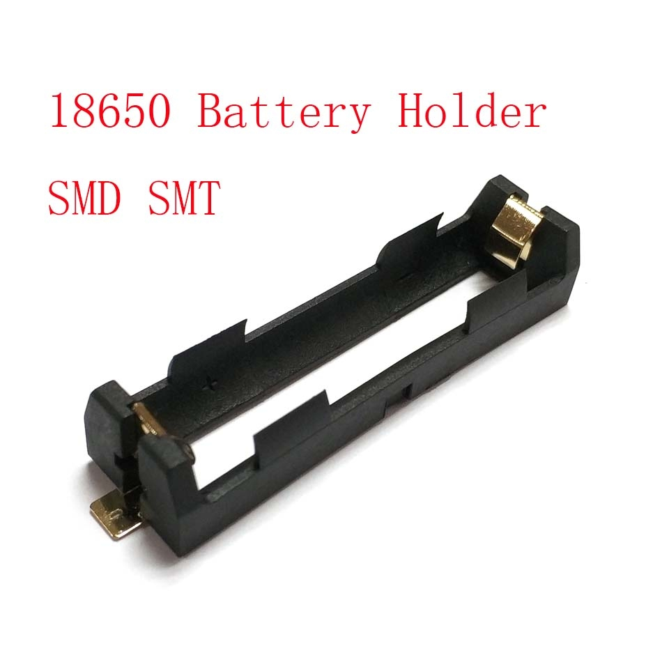 1 X 18650 Battery Holder SMD SMT Battery Box With Bronze Pins Radiating Battery Shell Heat Holder