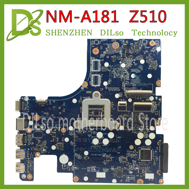 KEFU VILZA NM-A181 motherboard for Lenovo Z510 laptop motherboard PGA947 nm-a181 mainboard original tested DDR3 motherboard for lenovo laptop motherboard g570 piwg2 la 6753p hm65 ddr3 pga989 mainboard