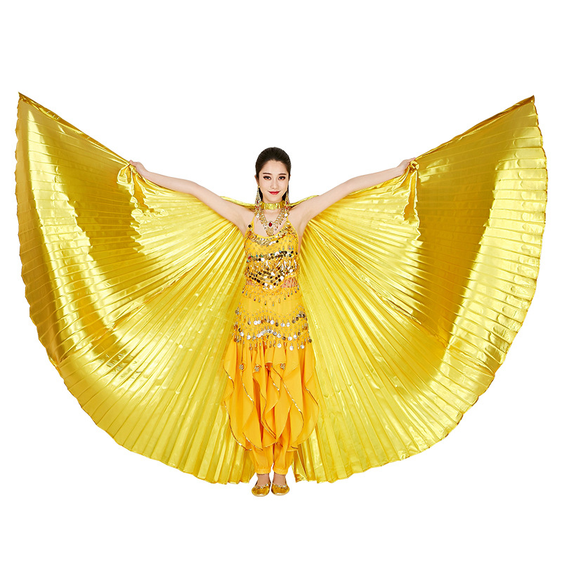 Indian Style Dance Wings Adult New 360 Degree Golden Silver Fashion Belly Dance Performing Costume Transparent Accessories Wings