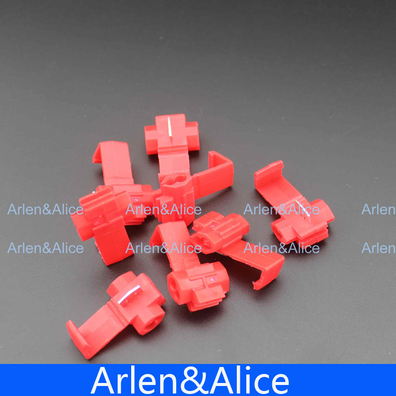 20pcs Wire terminals quick wiring connector cable clamp AWG 22-18 5pcs t shape 2 pin scotch lock quick splice wire wiring connector for 22 18awg led strip wire car audio cable terminals crimp