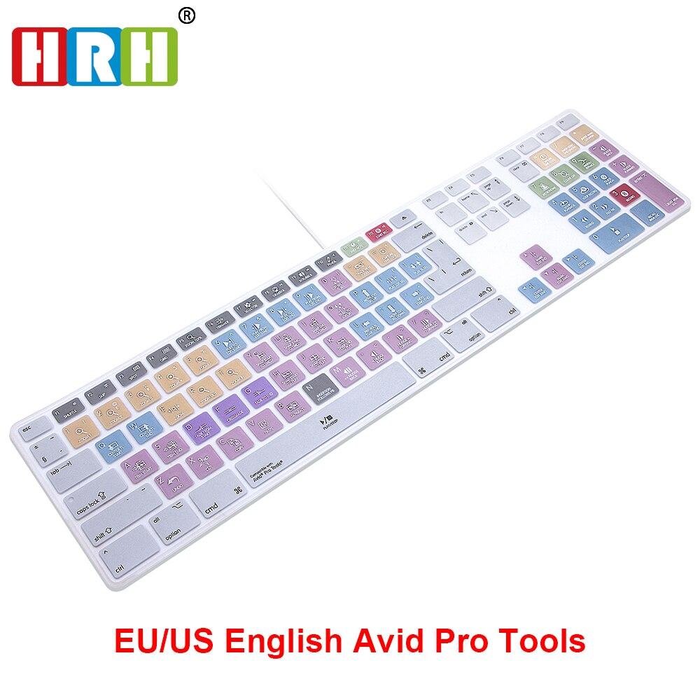 SAR Avid Pro Tools Raccourci Raccourci Clavier Couverture de Peau Pour Apple Clavier Pavé numérique Filaire USB pour iMac G6 De Bureau PC Filaire