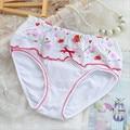 Kids fashion girls underwear calzoncillos de algodón bragas de las muchachas de los bebés floral niños bragas 12 unids/lote