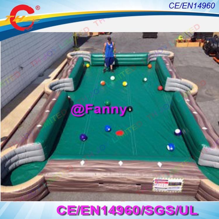 Xmxmxm Printing Pvc Giant Inflatable Human Billiards Soccer - Human pool table