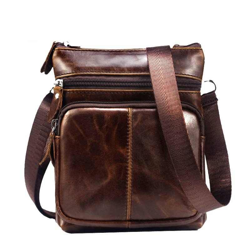 b612c5223477 BULLCAPTAIN 2018 MEN S FAMOUS BRAND casual CROSSBODY BAGS MALE BAG FASHION GENUINE  LEATHER MINI SHOULDER BAGS