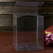100PCS/LOT  8x8x30cm PVC Transparent Clear Boxes Plastic Jewelry Storage Case