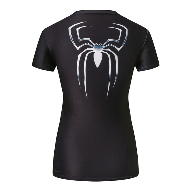 Women Compression T-shirt Black
