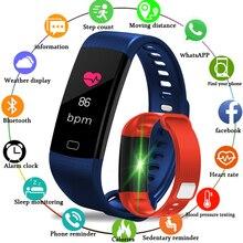 LIGE IP67 Waterproof Fitness Tracker Men Women Pedometer Blood Pressure Oxygen Smart watch LED Color Touch Screen Sport Bracelet