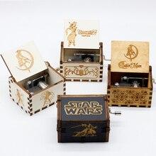 Деревянная музыкальная шкатулка Сейлор Мун Звездные войны игра трона Хрустальная тема ручной работы Выгравированные музыкальные коробки Рождественский подарок на день рождения