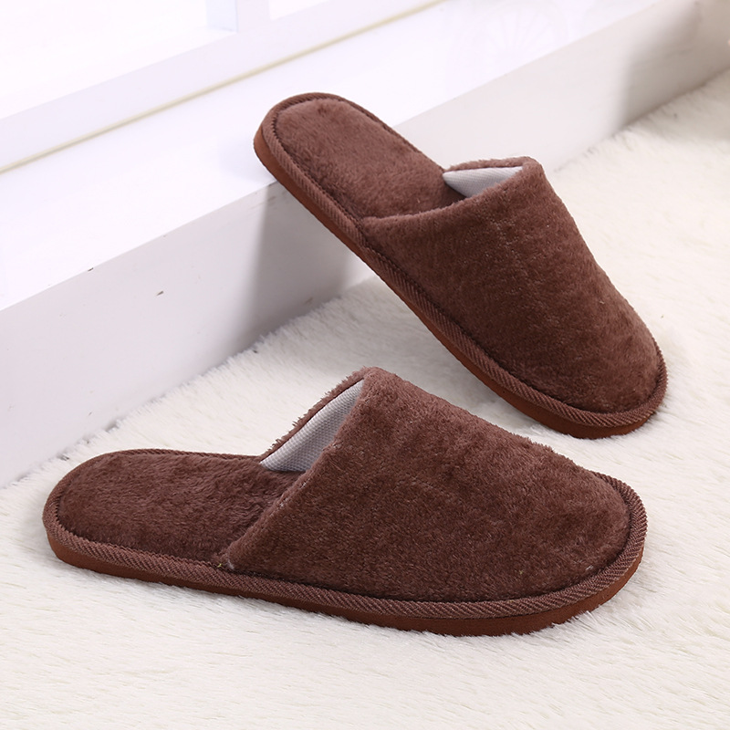 new concept reasonable price great fit US $2.99 15% OFF|Candy Color Women Winter Slippers Fleece House Shoes Floor  Lovers Home Shoes Warm Soft Flats Men Slippers Indoor Slip On Shoes-in ...