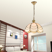 Copper Glass Pendant Lamp Dining Room Lamp Bedroom Lamp Glass Tiffany Study Single Copper Hanging Lighting