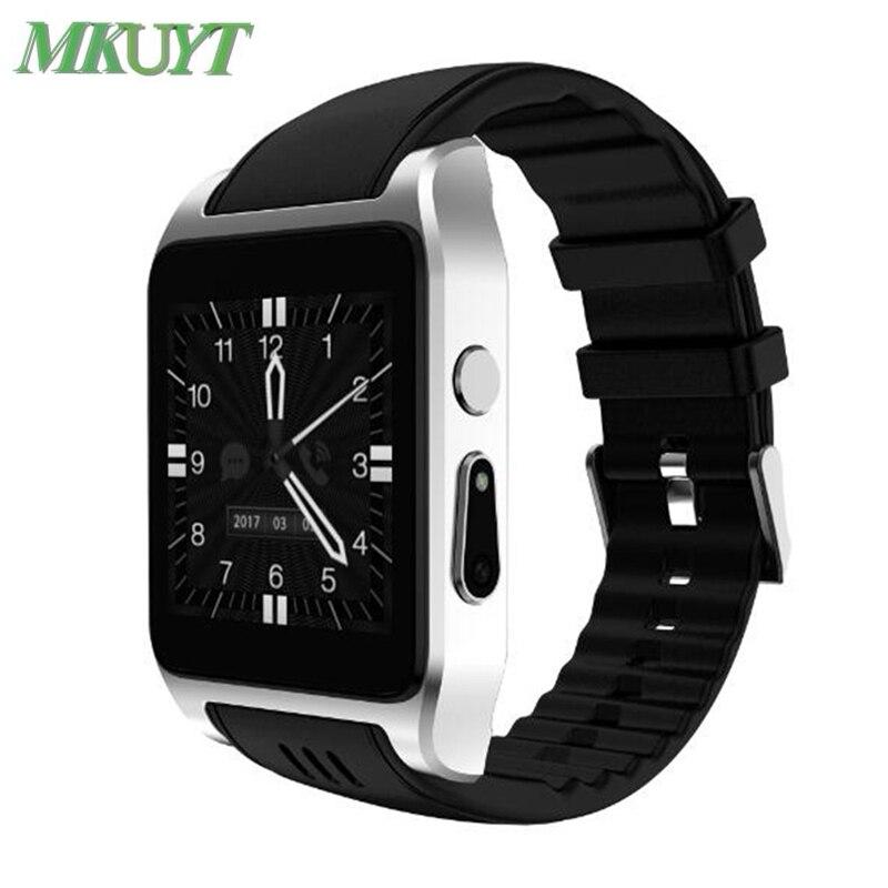 MKUYT X86 Bluetooth Wifi montre intelligente prise en charge 3G/2G carte SIM X01 android OS Smartwatch avec caméra Whatsapp Facebook