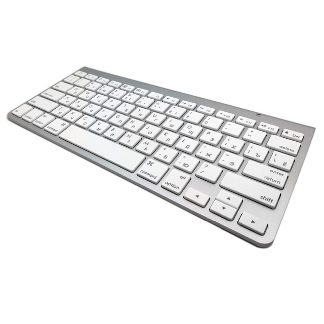 High Quality Ultra-Slim Bluetooth Keyboard Mute Tablets and Smartphones For Apple Wireless Keyboard Style IOS Android Windows 5