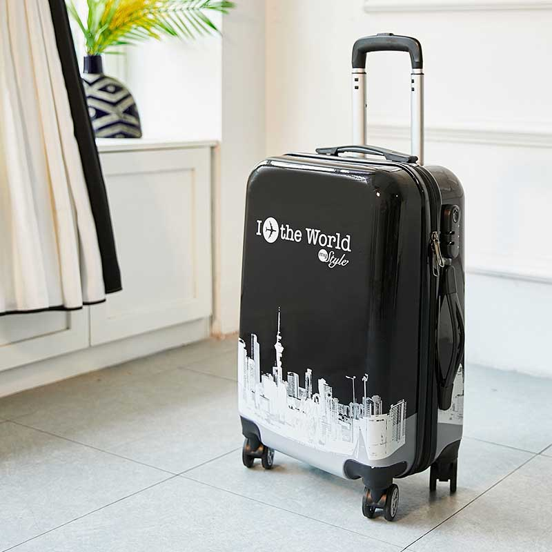 BeaSumore Cute Cartoon Students Rolling Luggage 20 Inch Spinner Suitcase Wheels Women Password Travel Bag Cabin Trolley