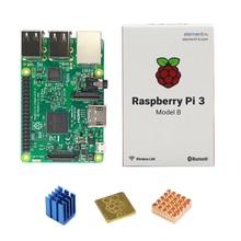 Original Raspberry Pi 3 Modelo B E14 Versión WiFi y Bluetooth + CPU Aluminio Disipador de Calor de Cobre para Raspberry Pi 3 RPI Pi 3 3