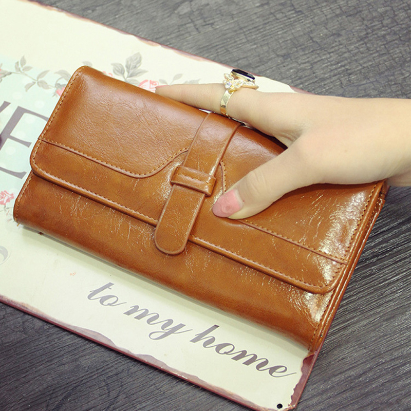 Fashion Long Zipper Clutch Designer Purse Luxury Brand Women'S Wallet Hasp Coin Purse Genuine Women Purse Female Wallets Ladies