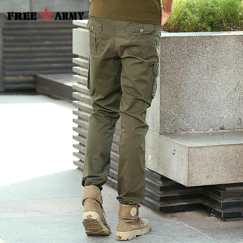 Brand Mens Pants Casual Cargo Pants Multi Pocket Vintage Military Pants  Army Green Overalls Male Cotton Tactical Pants Trousers-in Casual Pants  from Men s ... 8843c3fdc65