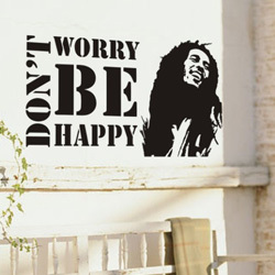 2017 Bob Marley Wall Stickers Music Decoration Home Quote Sticker For Children Vinyl Decals