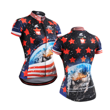 New 2016 ocean blue women bike jersey tops Female Cycling Jersey Cycle Short Sleeve women clothes for summer