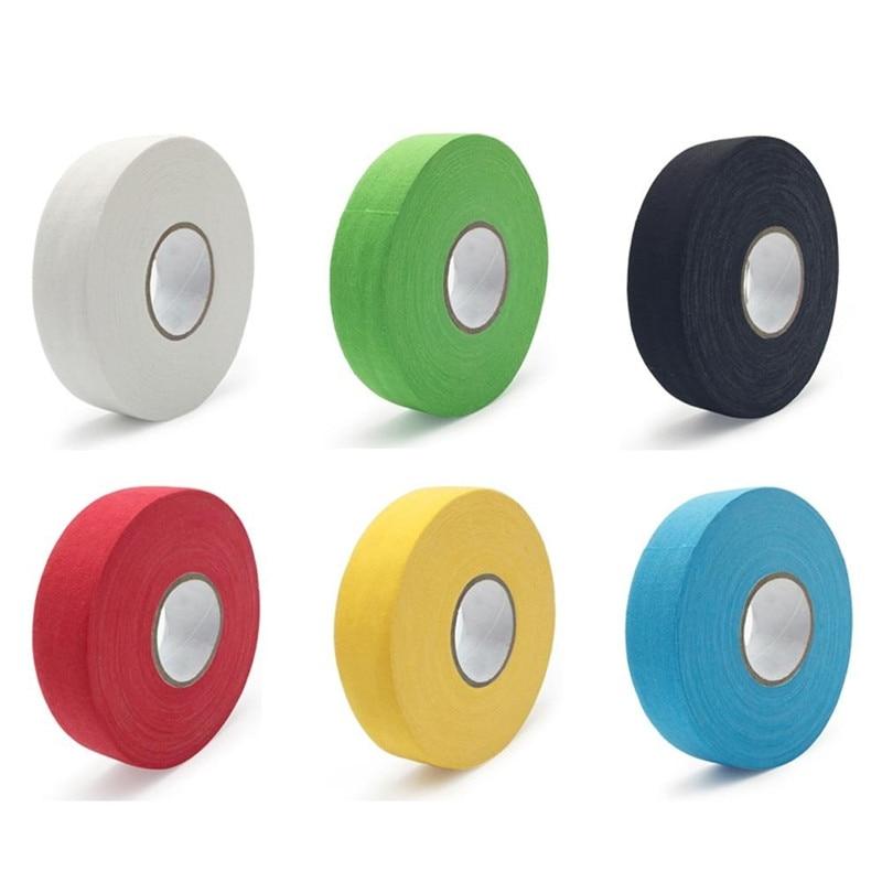 1Pc 2.5cm X 25m Cloth Hockey Tape Hockey Stick Tape Ice Hockey Protective Gear Cue Non-Slip Tape