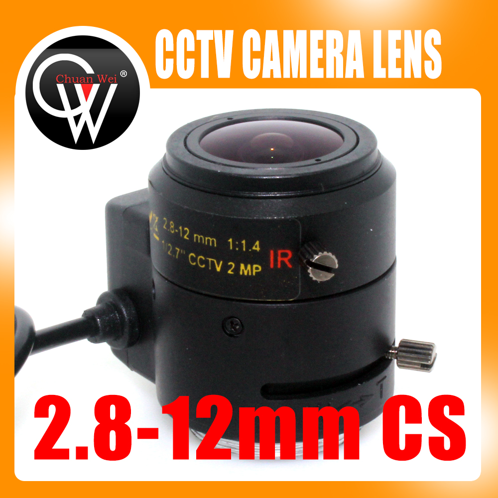 2MP HD 2.8-12mm cctv lens CS Mount Manual Auto Focal IR 1/2.7 1:1.4 for Security CCTV Camera IP Camera hd 2mp 9mm 22mm zoom manual focal cs lens for hd ip sdi ahd cameras