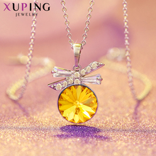 Xuping Jewelry Elegant Pendant Necklace Crystals from Swarovski  Cheap Promotion Christmas Gifts Ladies S151-40214 lekani crystals from swarovski necklace925 ms exquisite prom necklace christmas snowflake square pendant necklace
