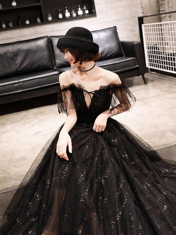 Fashion New Black Lace Evening Dress Sexy Backless  Dress Vestidos De Fiesta Banquet Star Party Formal Gowns XS-2XL