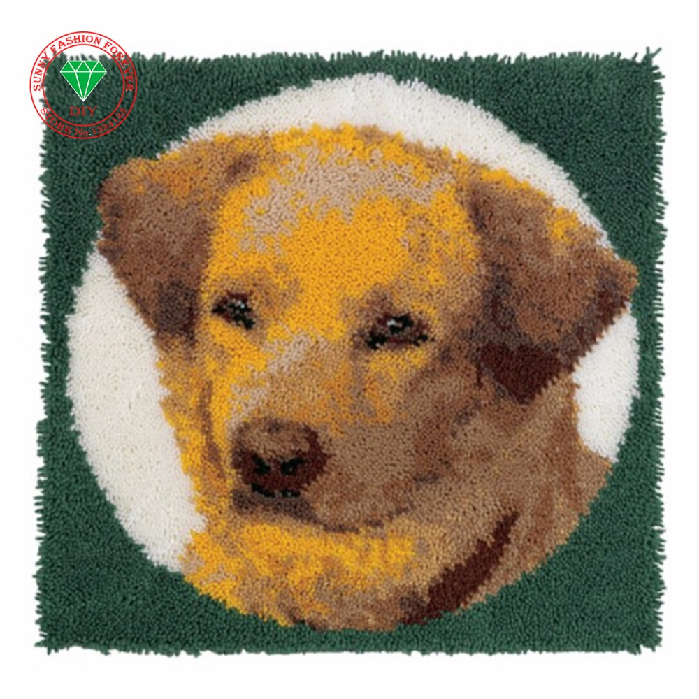 Rug Dogs Embroidery Designs: Dog Cross Stitch Carpet Cushion Patchwork Pillowcase No
